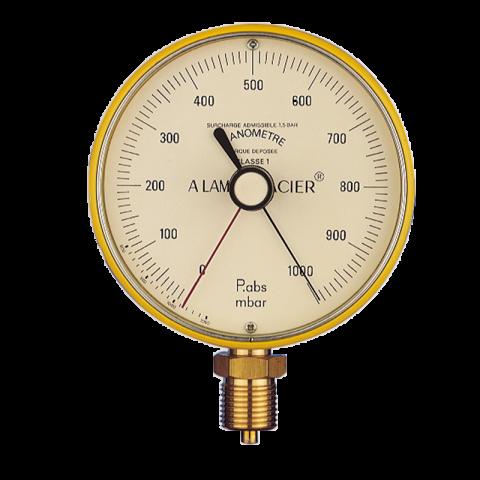 Blondelle Vacuum gauge Ø100, aluminium